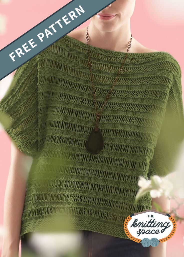 Knit Drop Stitch Top FREE Pattern in 2020 | Summer ...