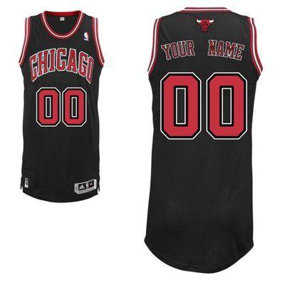 super popular 69c3a 8369c Adidas Chicago Bulls Custom Authentic Alternate Jersey ...