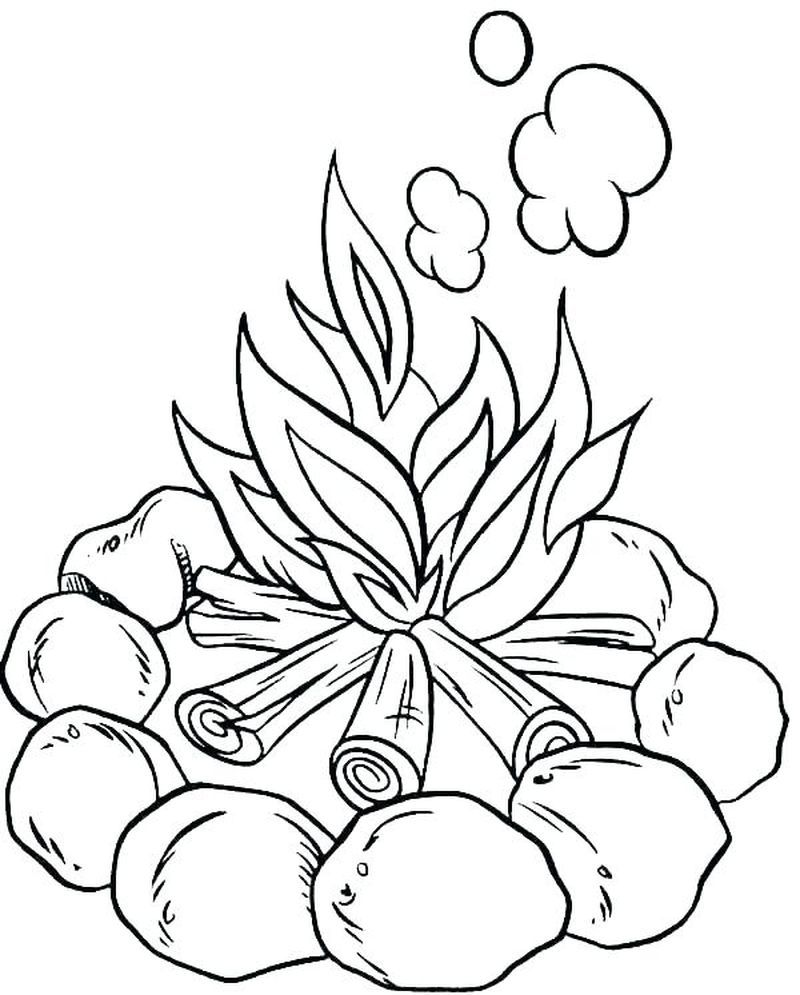Camping Coloring Pages For Toddlers Camping Is An Outdoor