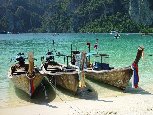 Popular beaches in Thailand