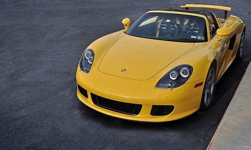 Yellow porche carrera GT