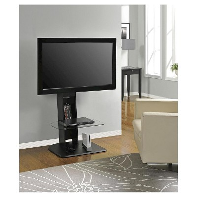 Solar Tv Stand With Mount For Tvs Up To 50 Black Room Joy In