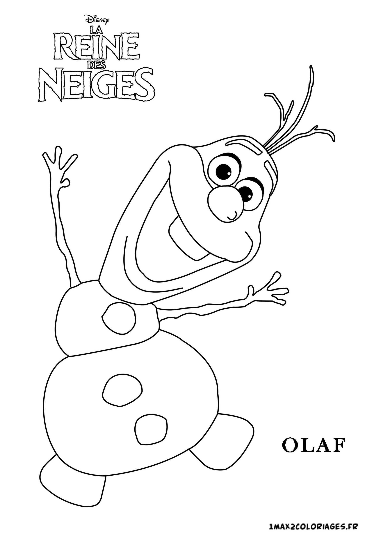 Coloriage des personnages du film disney la reine des neiges coloring page frozen Olaf a imprimer
