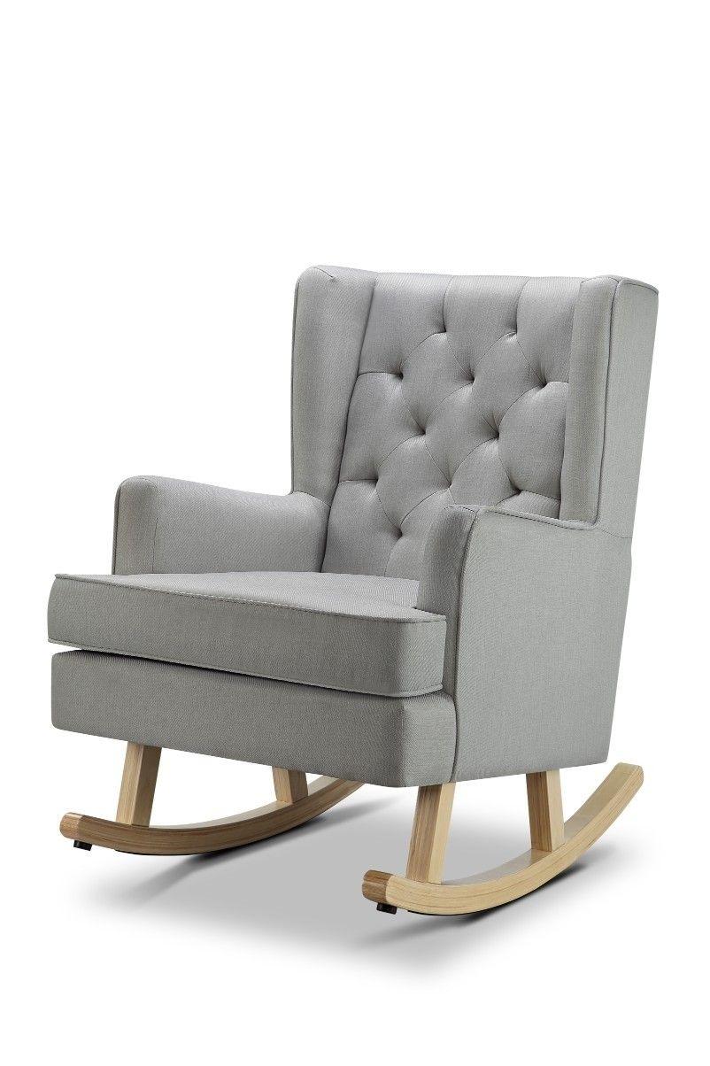 4baby Elle Glider Chair Grey Rocking