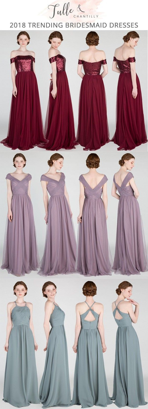 76906ebdbf4 2018 trending bridesmaid dresses from tulle and chantilly  bridalparty   wedding  bridesmaiddresses