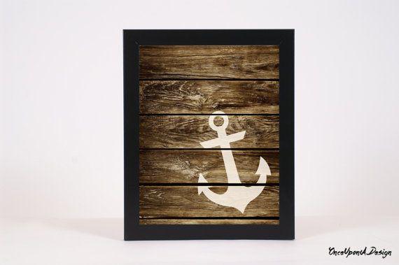 Nautical Anchor Decor Nautical Print Nautical by xOnceUponADesignx - $9.99