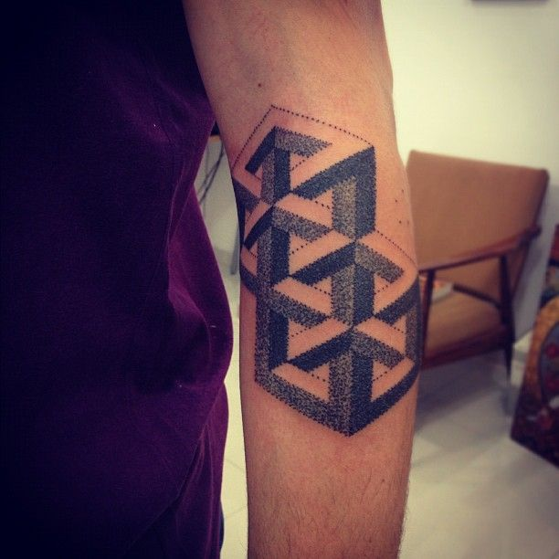Thousands Of Dots Make Up This Optical Illusion Tattoo Design By Gregorio Marangoni Ratta