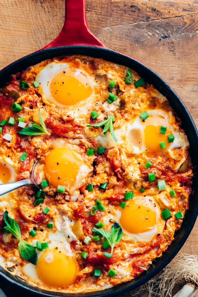 Turkish Menemen Recipe For Breakfast - Give Recipe