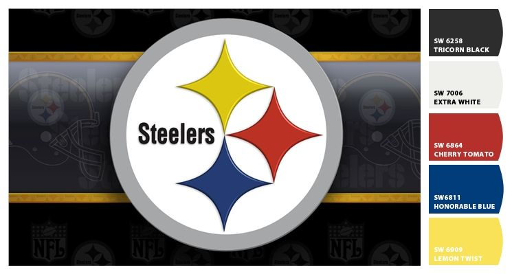 1d237cc9e Steelers emblem paint colors from by Sherwin-Williams