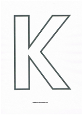 Letter K Coloring Page | Educational | Pinterest | Printable ...