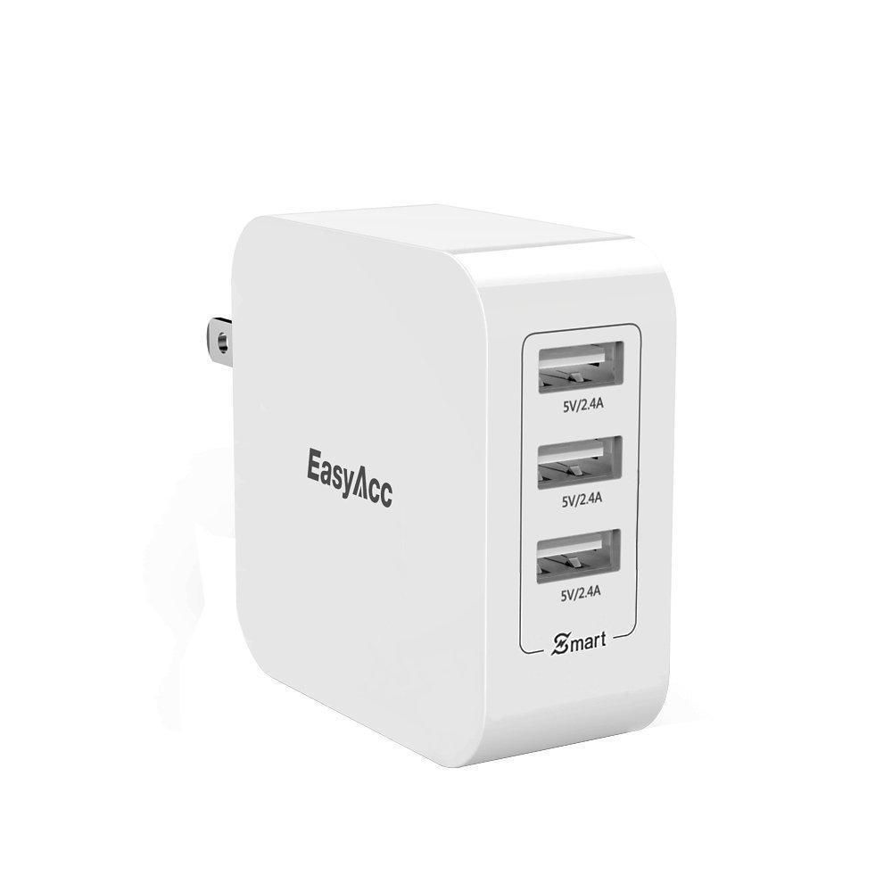 Easyacc 36w 72a wall charger 3port usb travel charger