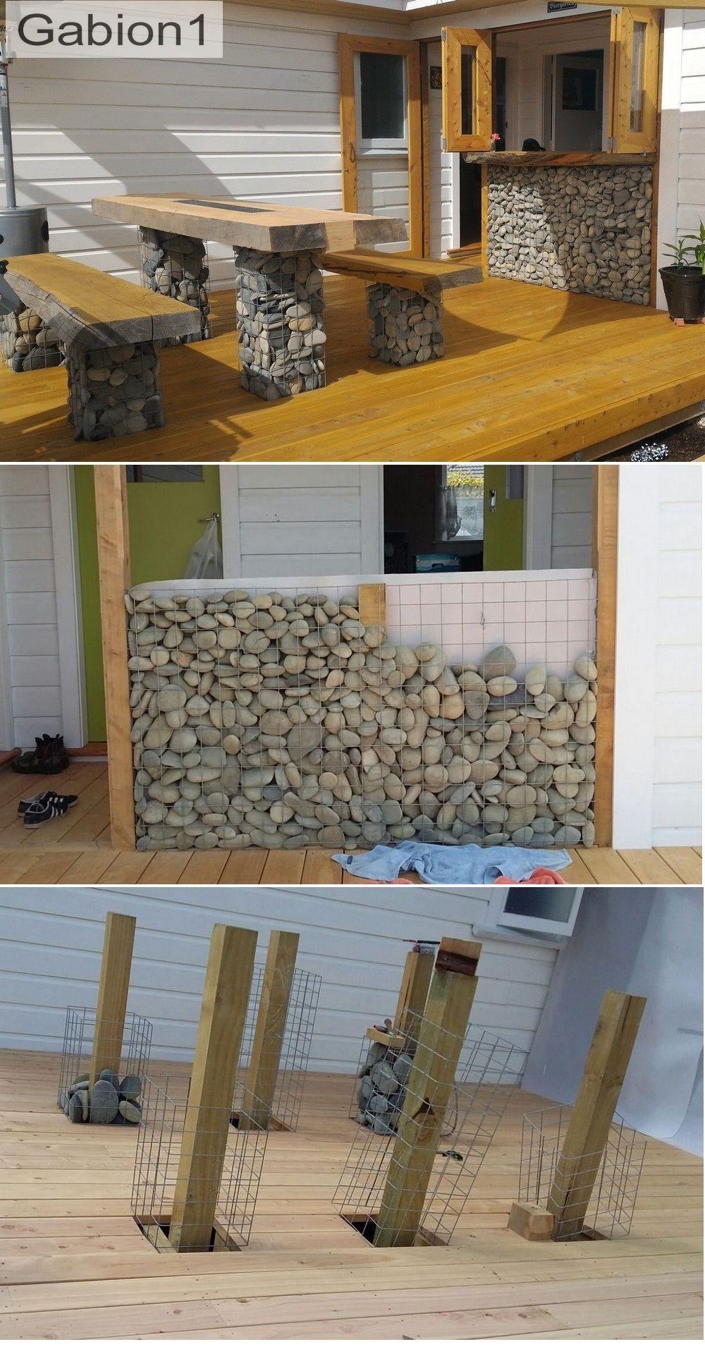 Gabion Bar And Table Gabion Wall Diy Backyard Gabion Baskets