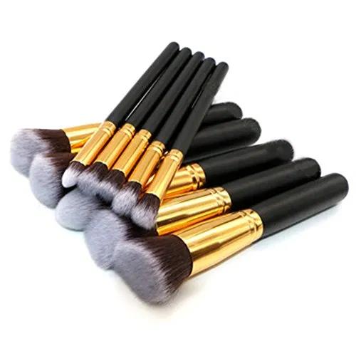 Photo of SUNSHINE SMILE Makeup Brushe Set 10 PCs Premium Synthetic Foundation Brush