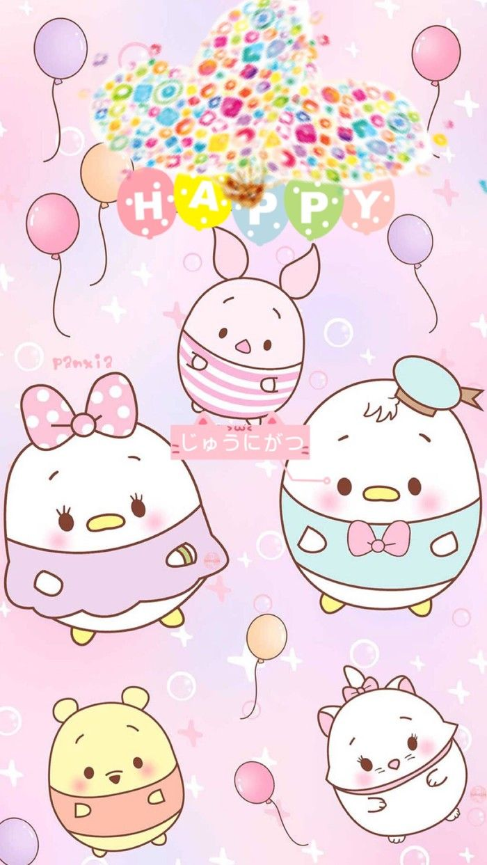 Tsum Tsum Tsum Tsum Wallpaper Kawaii Doodles Cute Cartoon Wallpapers