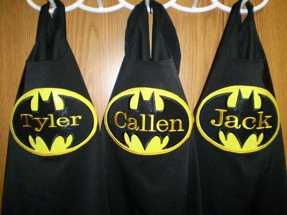 Superhero Cape BATMAN Inspired Personalized by UBaHero on