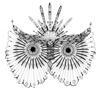 T te de hibou photo props enfants colorier coloriage et coloriage zen - Tete de chat a colorier ...