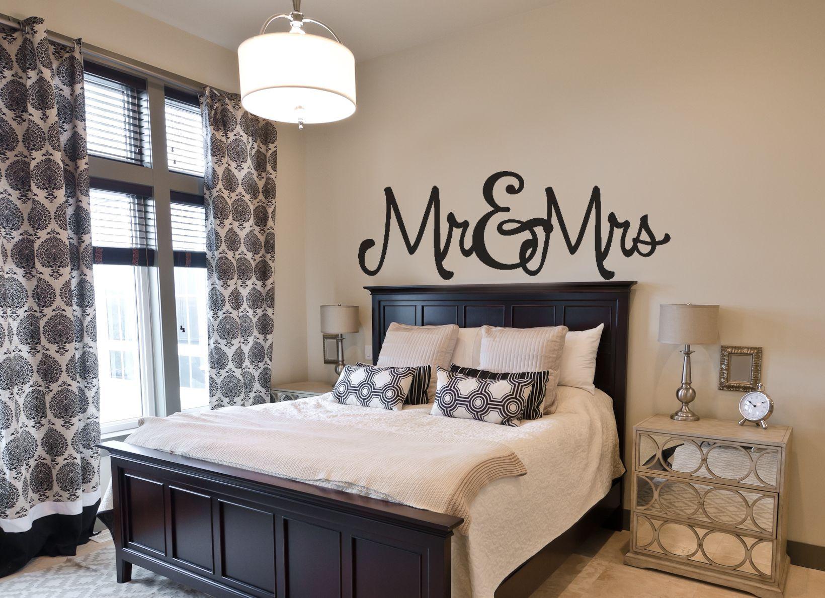 Bedroom wall decal mr u mrs amandaus designer decals pinterest