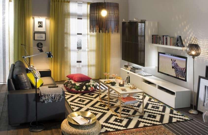 Arredamento casa low cost - Soggiorno composizione Ikea ...