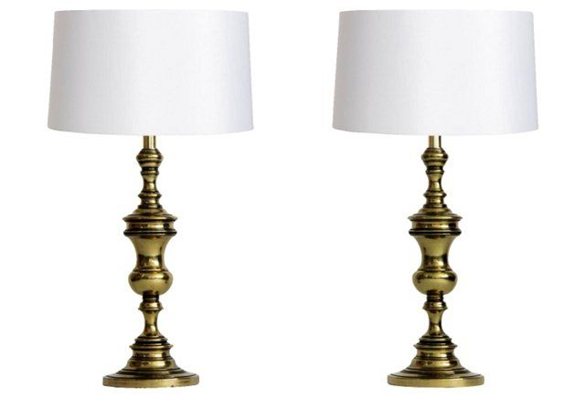 475 Br Lamps By Westwood Industries Pair Decorative