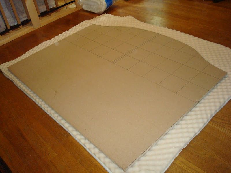 Use eggshell foam mattress topper from walmart instead of - What to use instead of a headboard ...