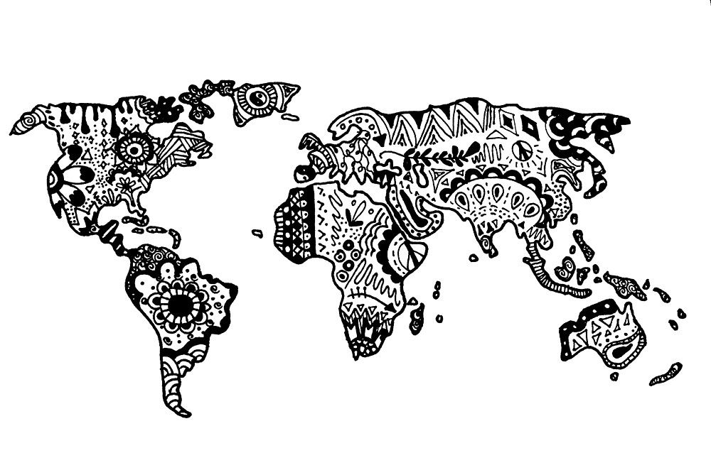 Pin de earth to kenz en art hoe pinterest mapas del mundo zentangle viaje gumiabroncs Images
