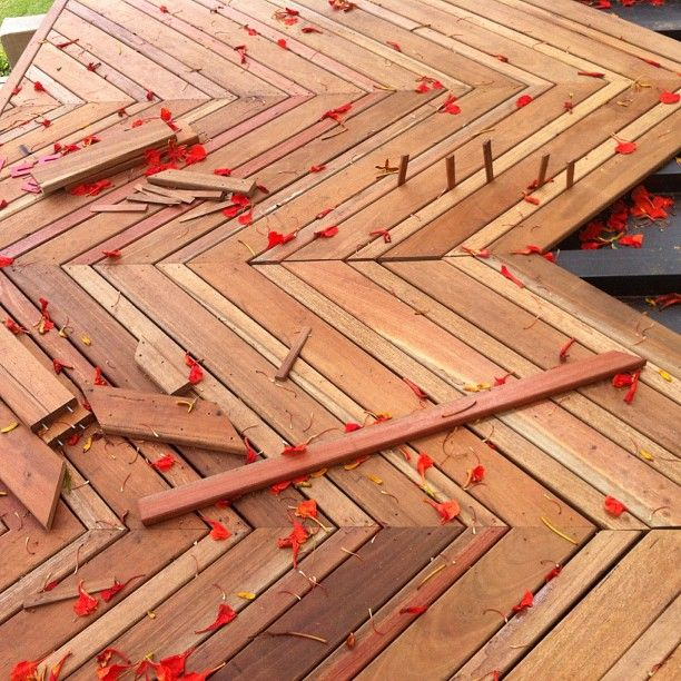 Herringbone Deck Detail Deck Designs Backyard Deck With Pergola Flower Wall Decor