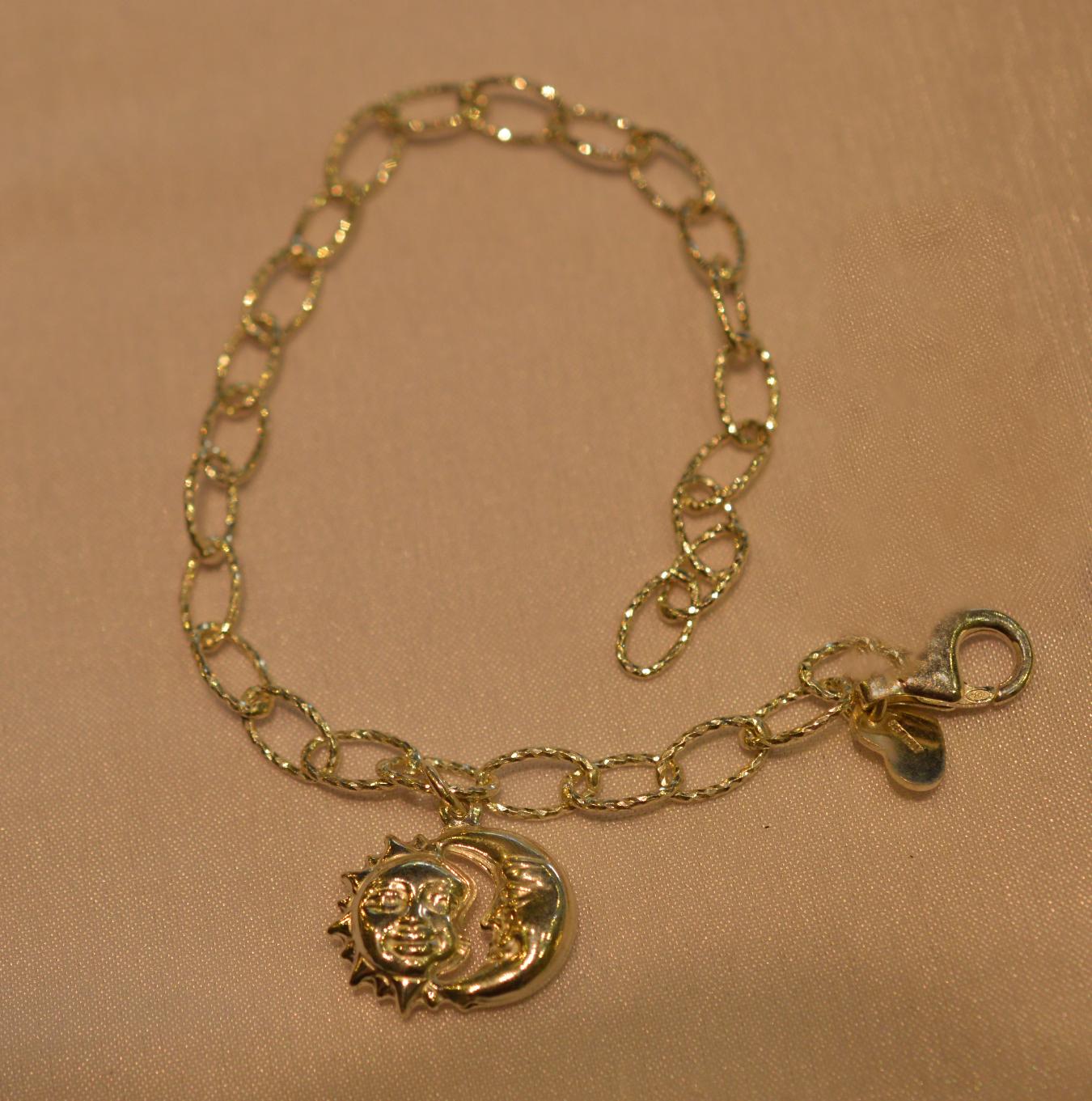 e1cb0d84e58f Pulsera con eslabón torneado y diamantado