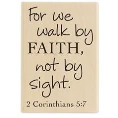 Hobby Lobby-walk by faith rubber stamp   Words to Live By