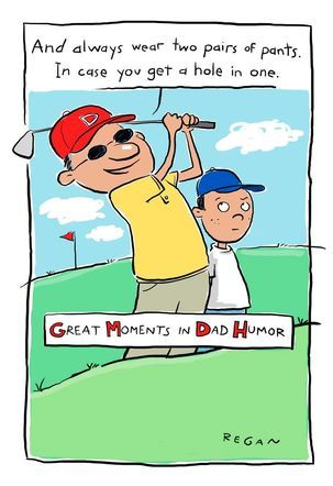 Golf Humor Funny Father's Day Card | Path To Futurre ...