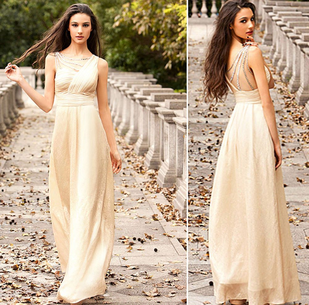 womens Wedding Gown long Cocktail Bodycon chiffon Party ...