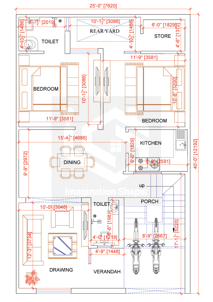 25x40 Home Plan 2bhk House Plan Budget House Plans House Map