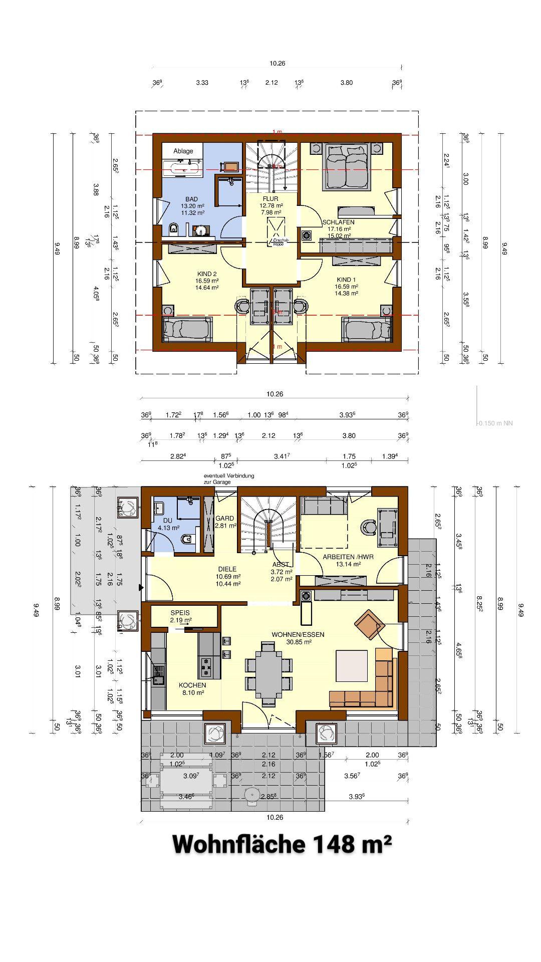 Planung eines Einfamilienhauses ohne Keller mit einer