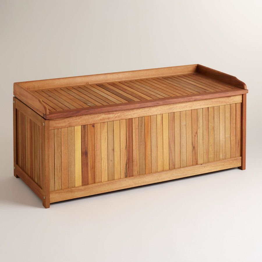 Furniture, Large Outdoor Waterproof Wood Storage Boxes Design With Bench  Seat Ideas ~ Inspiring Wood Storage Box Design