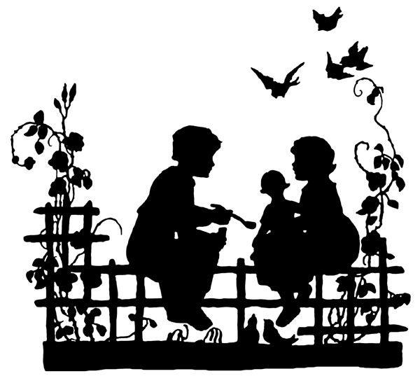 Free Silhouettes | Siluetas, Laminas infantiles y Silueta niño