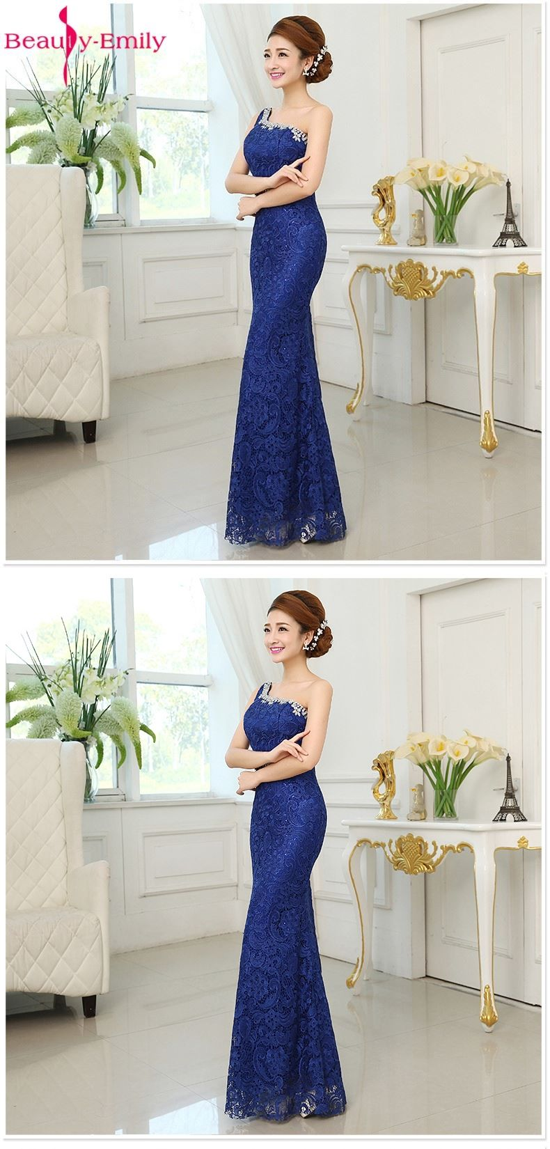Beautyemily evening dresses lace mermaid dresses formal party party