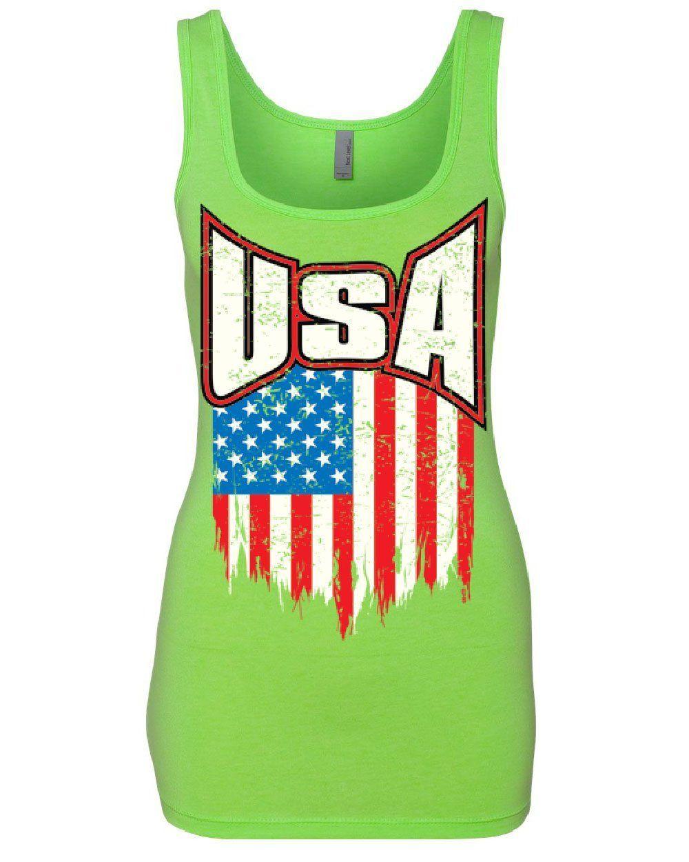 Tee Hunt USA Distressed Flag Tank Top 4th of July Stars /& Stripes Patriot Sleeveless
