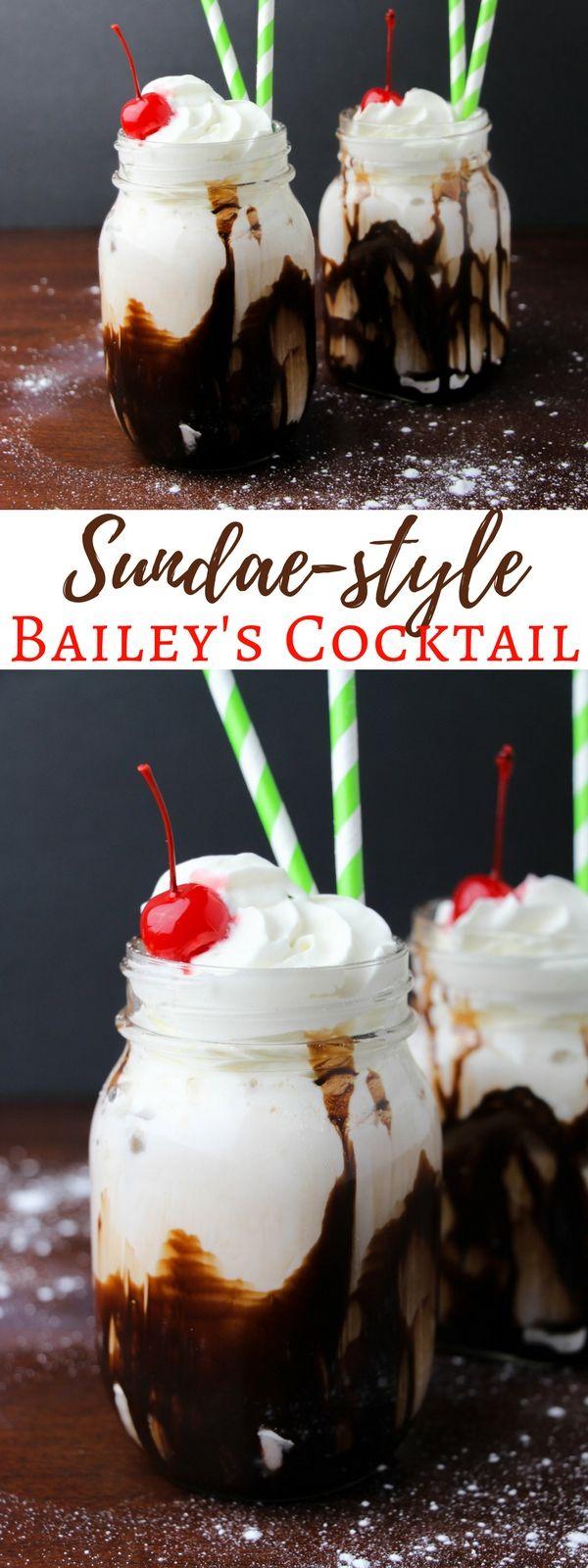 Bailey's Sundae-Style St Patrick Drinks