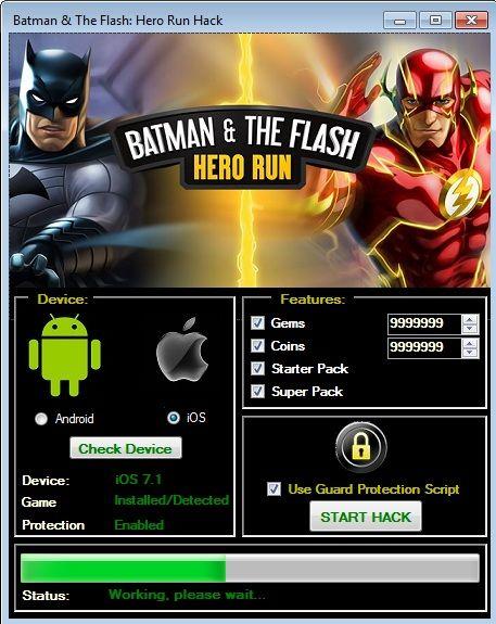 Batman And The Flash Hero Run Hack Cheats Hero Run The Flash