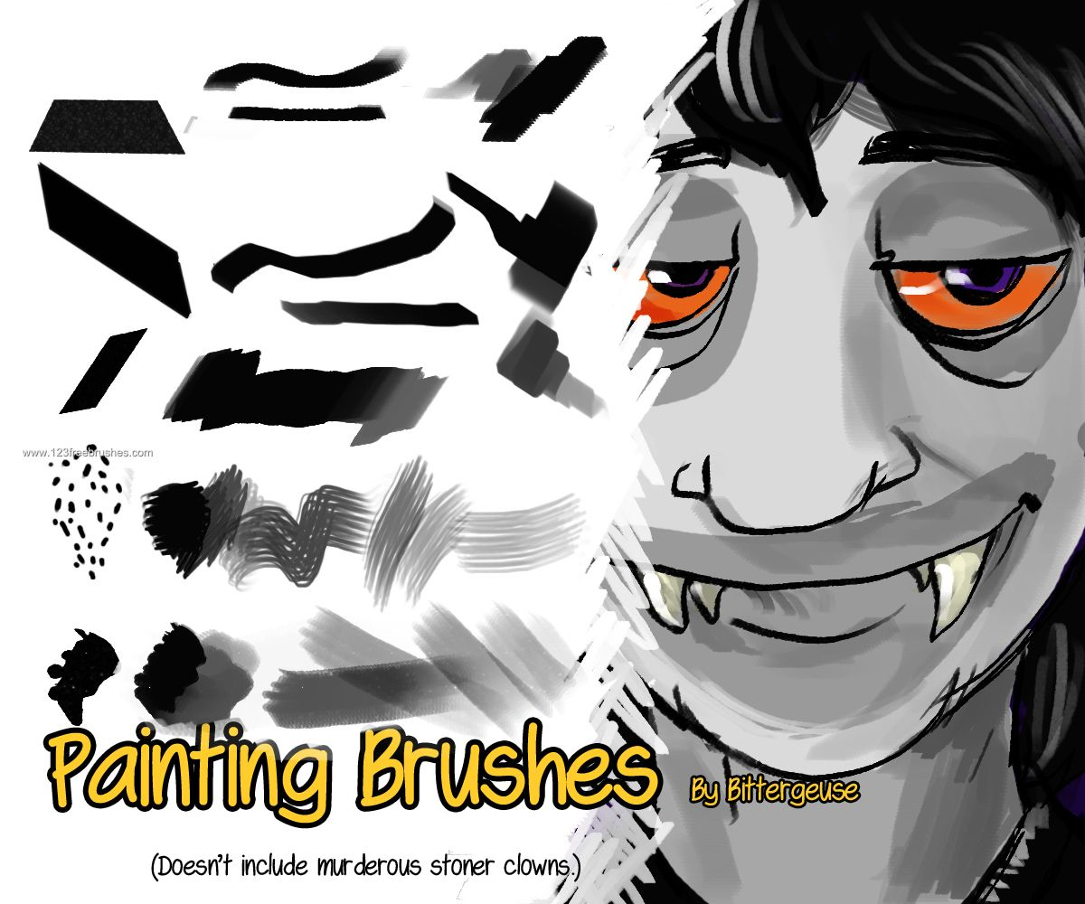 Painting Stroke - Download  Photoshop brush http://www.123freebrushes.com/painting-stroke/ , Published in #GrungeSplatter. More Free Grunge & Splatter Brushes, http://www.123freebrushes.com/free-brushes/grunge-splatter/   #123freebrushes