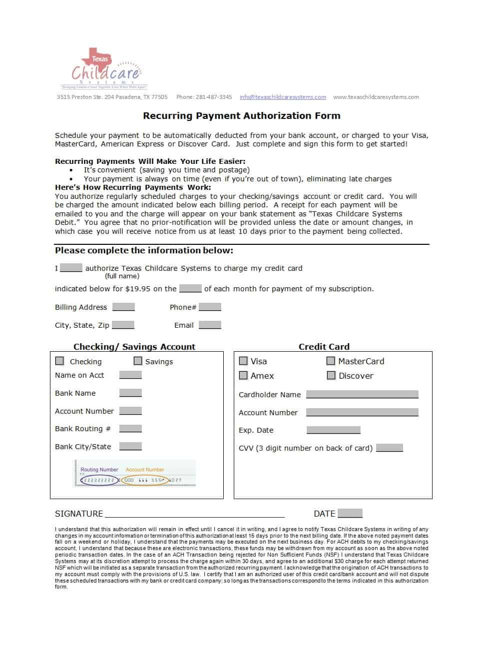 41 Credit Card Authorization Forms Templates Ready To Use Inside Authorization To C Card Template Medical Business Card Professional Business Cards Templates