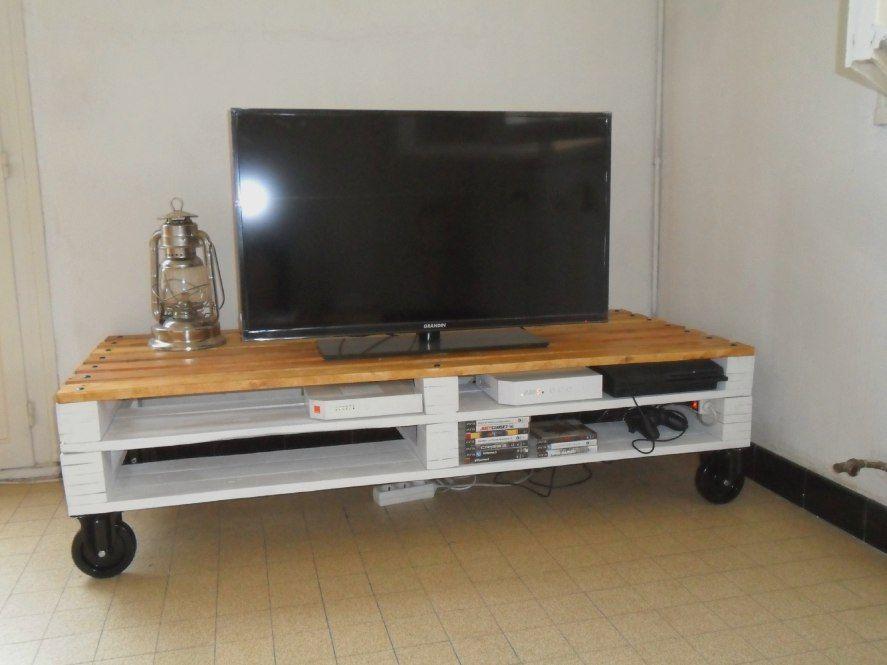Bon 49 Graphique Meuble Tv Beton Confortable Meuble Tv Palette Meuble Tele En Palette Fabriquer Meuble Tv
