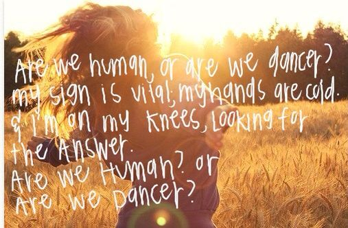 And I M On My Knees Looking For The Answer Are We Human Or Are We
