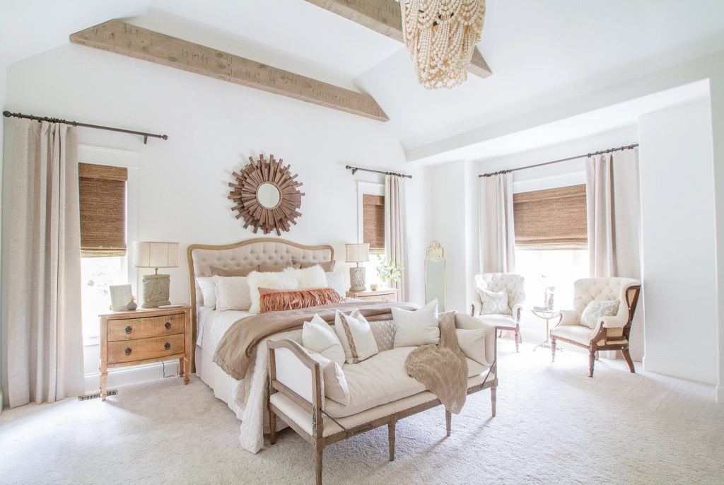 The 15 Most Beautiful Master Bedrooms On Pinterest Sanctuary Home Decor White Bedroom Luxury