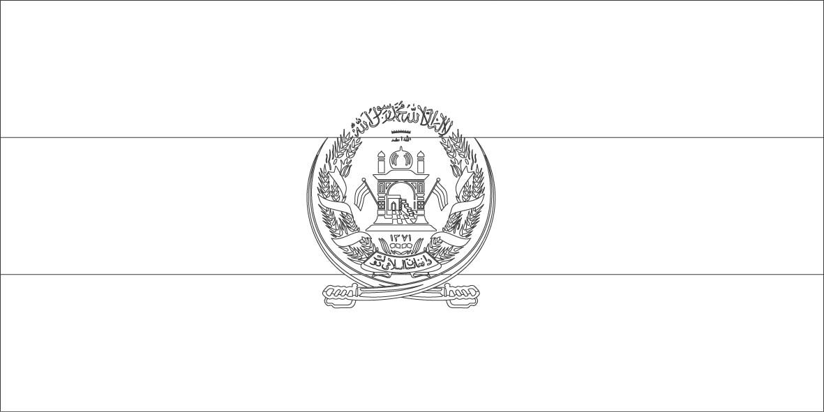 Afghanistan flag coloring page Sonlight Core C Window on the