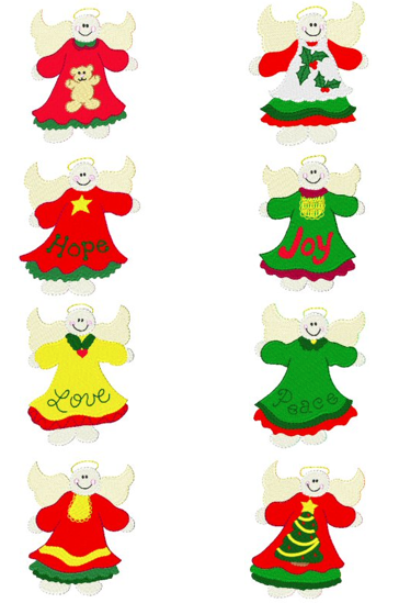 Free Embroidery Designs: Chubby Angels