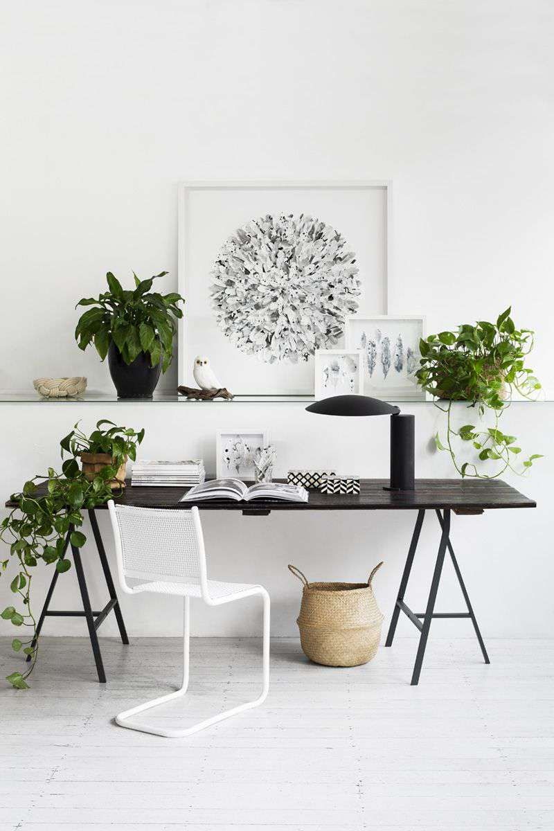 30 Relaxing Desk Setup With Plants Haus Interieurs Buro Inspiration Haus Deko