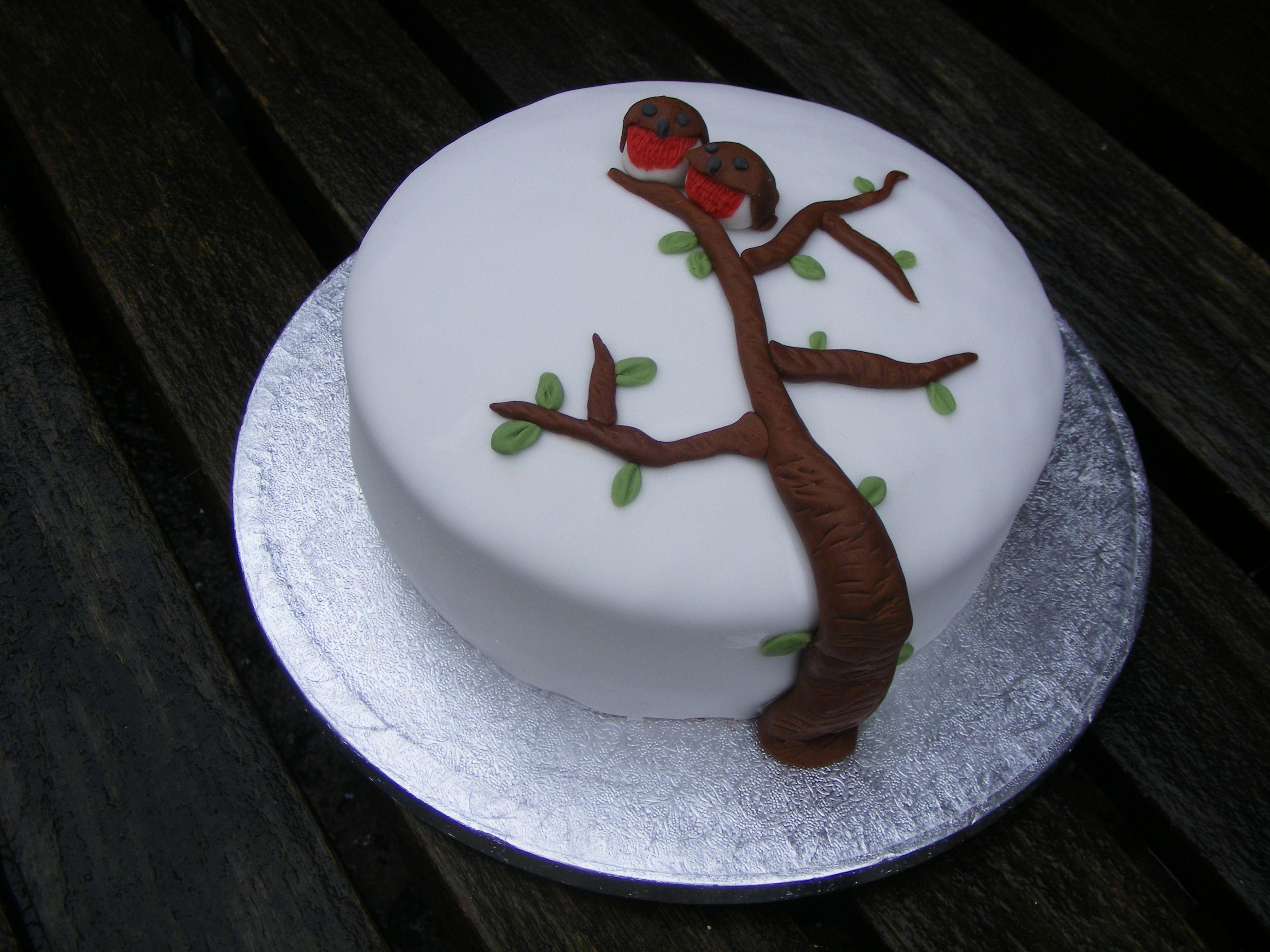 Iced Robin Cake