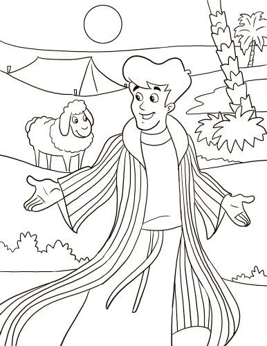 Joseph Sold By His Brothers Coloring Page Google Search Sunday Joseph Coat Of Many Colors Activity