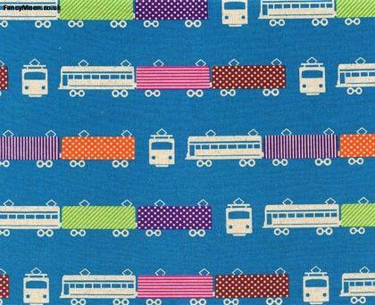 funky train fabric