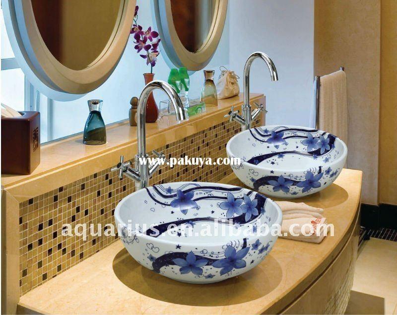 Cool Blue Vessel Sinks!